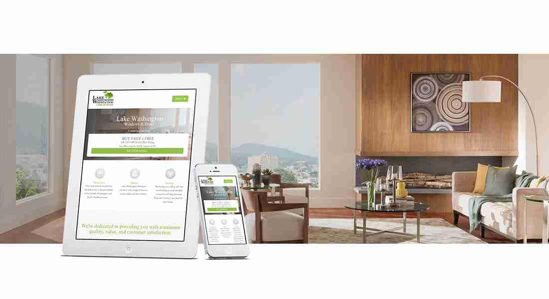 Lake WA Windows - Web Design Preview
