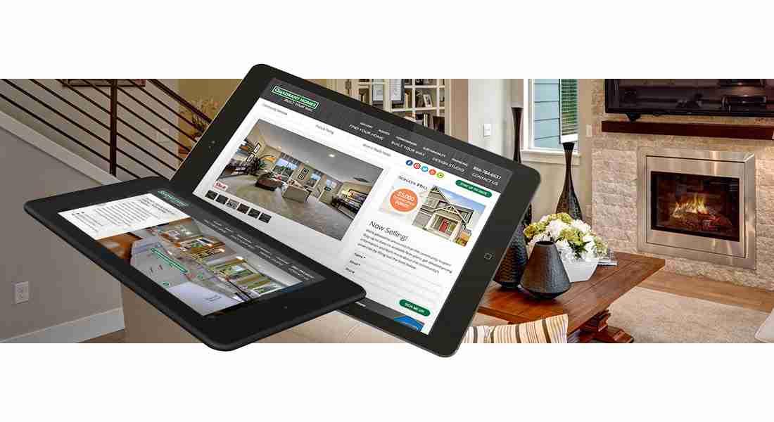 Quadrant Homes - Tablet Views