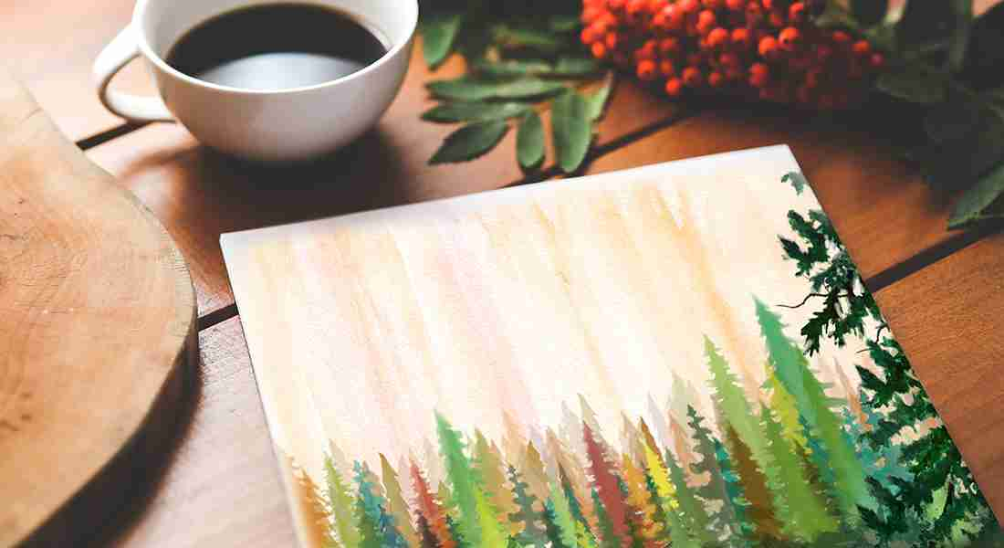 Eastside Center For Family - Watercolor Trees Painting