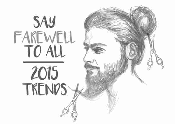 Sketch of a Man with a Long Beard and Hair in a Bun