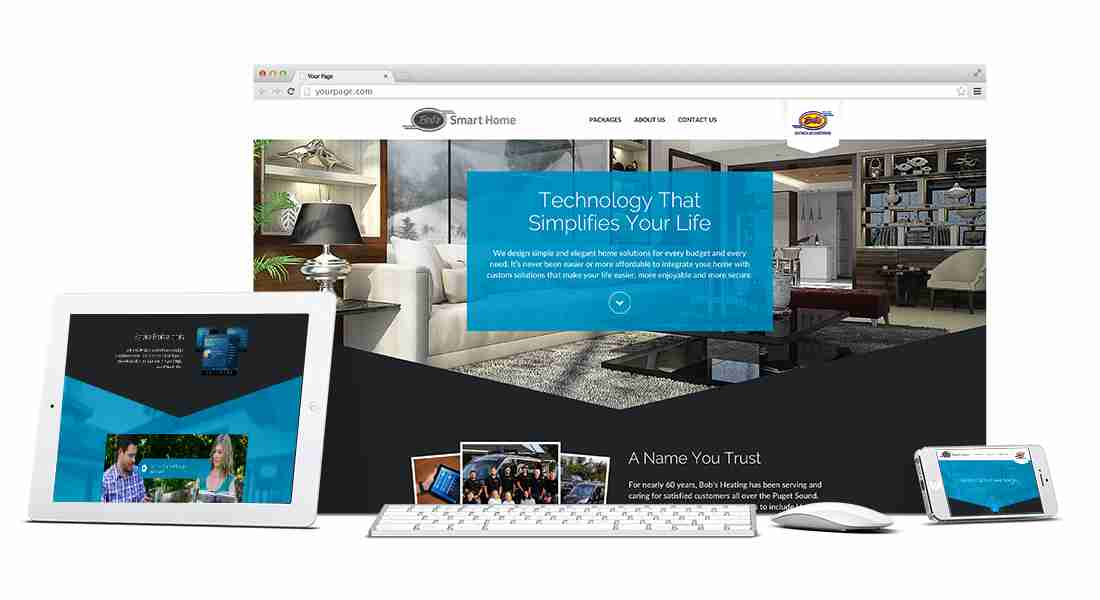 Bob's Smart Home - Web Design Preview