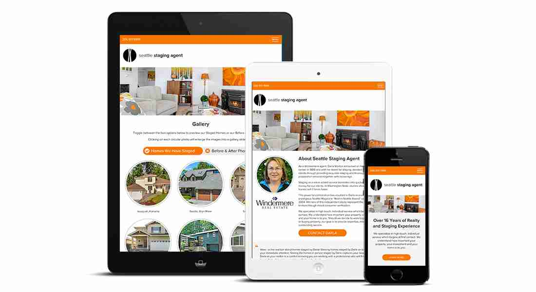 Seattle Staging Agent - Tablet Design Preview