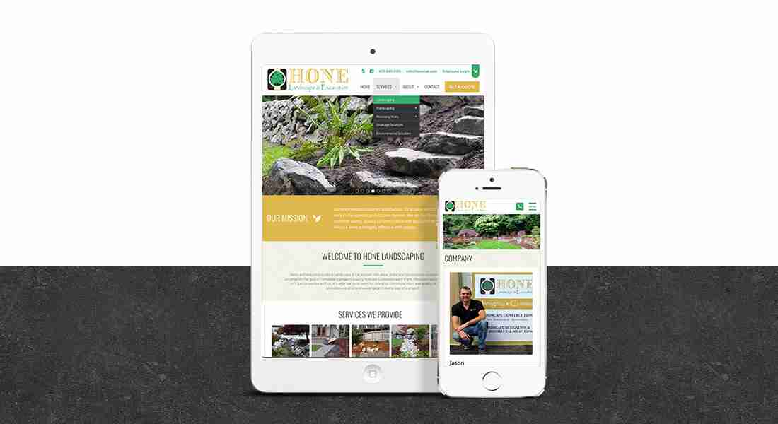 Hone Landscaping - Tablet Preview