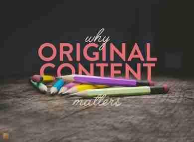 Original Content Matters