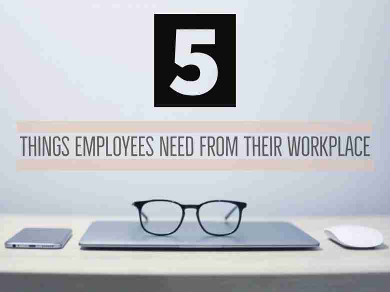 5 Things Employees Need from their Workplace