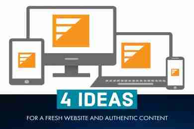4 Ideas for a Fresh Website