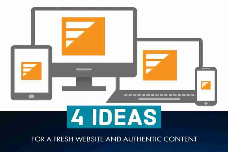 4 Ideas for a Fresh Website